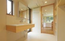 キッチンとつながる洗面洗濯室