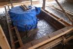 井戸を残し周囲基礎新設