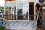 増築部分 アルミサッシ取り付け工事
