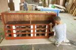 既存造作棚のリメイク