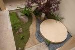坪庭施工の様子