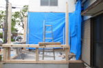 増築部分 建て方工事