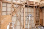 増築部分 建て方工事 既存軸組補強