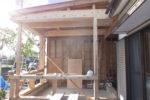 増築部分 建て方工事 屋根下地組み