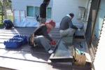 増築部分 屋根天窓設置工事