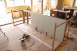内部造作工事1 キッチン腰壁製作