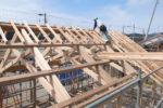 小屋組み工事 垂木材設置工事