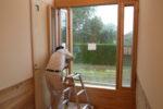 エントランスホール木製窓設置工事