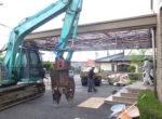 解体工事 鉄骨造の屋根の解体
