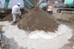地盤改良工事 固化材の散布