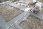 基礎工事 基礎幅の計測確認