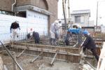 基礎梁 コンクリート打設工事