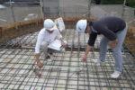 屋根スラブ 配筋検査