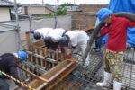 屋根スラブ コンクリート打設工事