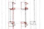 東側造作窓のディテールスケッチ