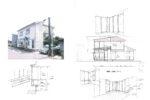 増築計画のスケッチ 部屋高さのイメージ