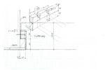 ミーテイングルーム天井ルーバー 壁取り合いイメージ