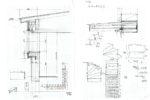 ミーテイングルーム出窓部の構成・庇・階段の検討