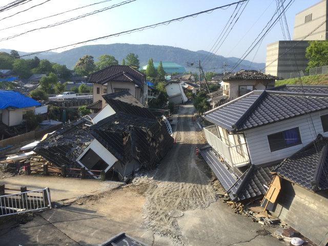 2016年熊本地震の被害の様子