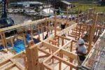 建て方工事 近景