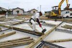 木工事 土台敷き込み