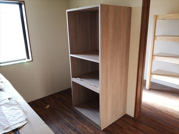 キッチン家電用の収納棚